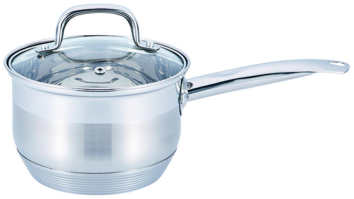 Ковш с крышкой из нержавеющей стали Benson BN-227 (1 л)   сотейник   ковшик Бенсон   набор посуды