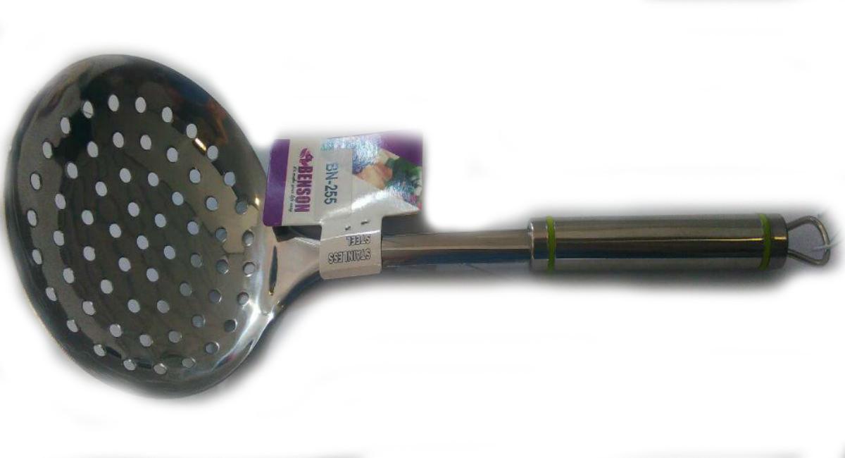 Шумовка из нержавеющей стали Benson BN-255   столовые приборы   кухонные ложки   ложка из нержавейки