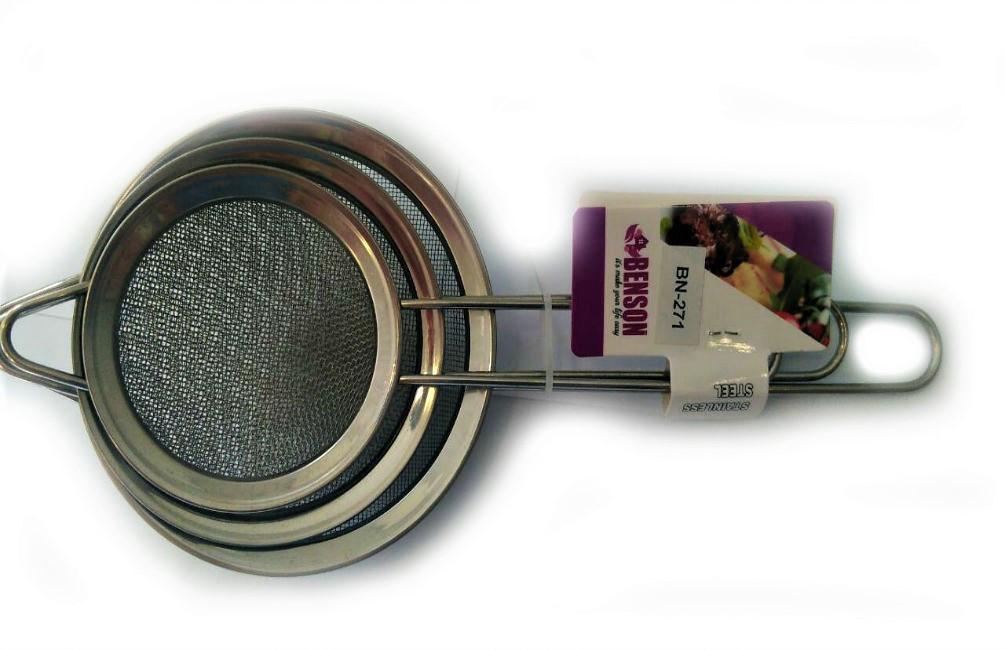 Набор сеточек для чая (8см+10см+12см) Benson BN-271 | сеточка для чая | маленькое сито | ситечко для заваривания чая