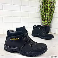 """Ботинки мужские зимние черные """"Colambia"""" эко кожа, Зимние ботинки. Обувь мужская. Обувь зимняя"""