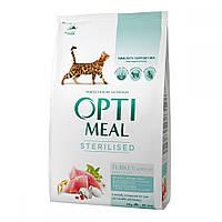 Корм для кошек Optimeal Sterilised Индейка и Овес 4 кг
