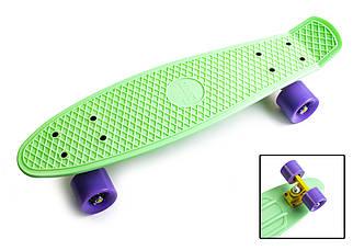Penny Board 22 Original м'ятного кольору з фіолетовими колесами