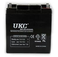 Герметичный кислотно-свинцовый аккумулятор UKC BATTERY 12V, 24А   аккумуляторная батарея, фото 1