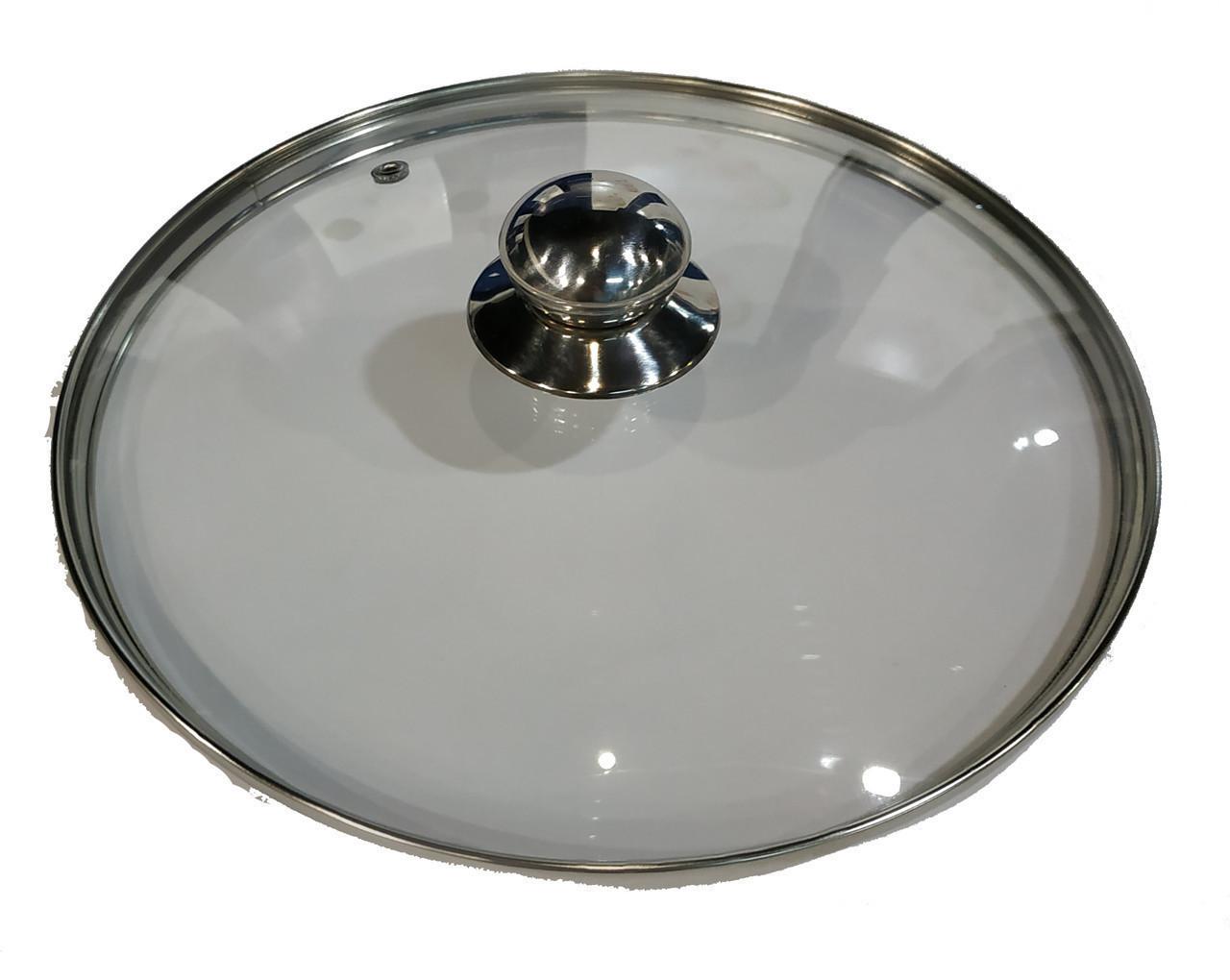 Крышка из закаленного стекла Benson BN-1006 (26 см) | стеклянная крышка на кастрюлю Бенсон | крышка стекло