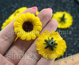 """(10шт) Головы цветов Ø28мм  """"Жёлтая ромашка"""" (сп7нг-0848), фото 3"""