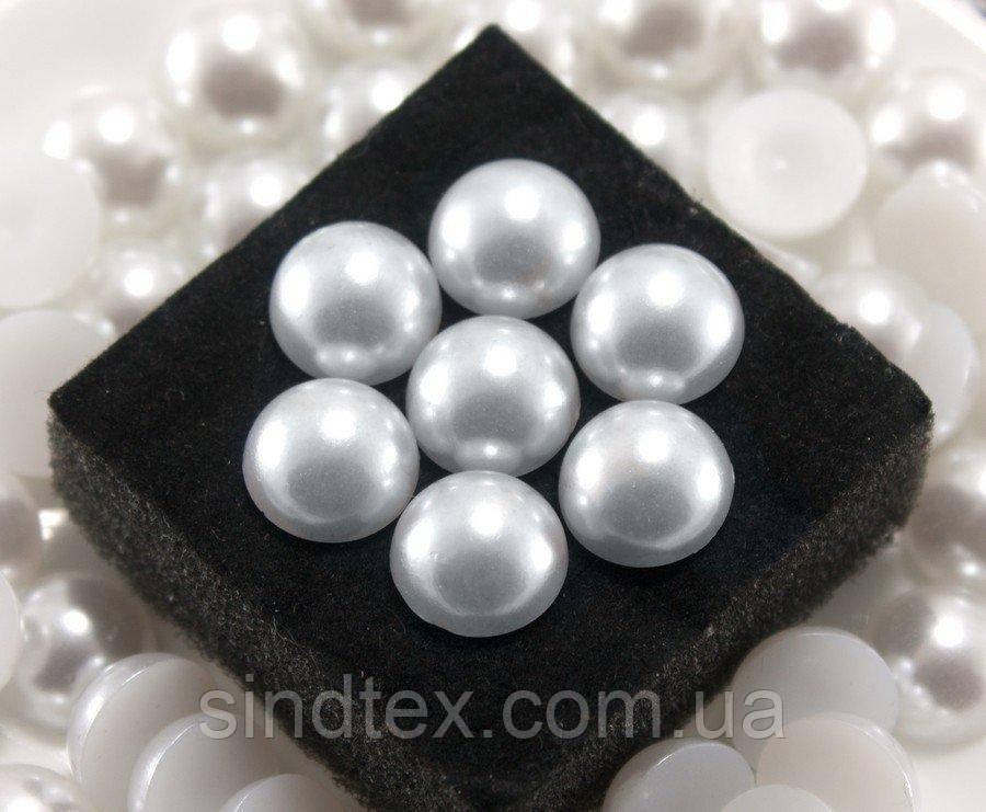 (20 грамм) Полубусины, полужемчуг Ø12мм  (45шт) Цвет - Белый (сп7нг-0765)