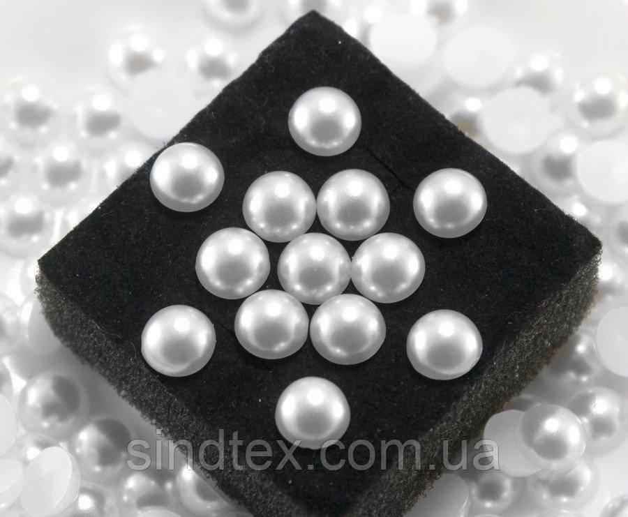 (20 грам) Полубусины, напів-перли Ø8мм (150шт) Колір - Білий (сп7нг-0768)