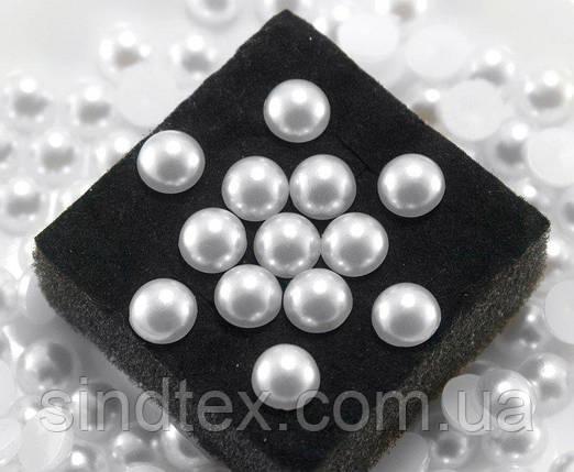 (20 грам) Полубусины, напів-перли Ø8мм (150шт) Колір - Білий (сп7нг-0768), фото 2