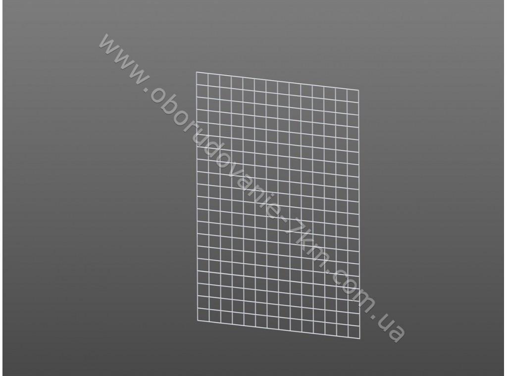 Сетка Торговая Белая (решетка) 150х50см проволока 3мм, ячейка 50/50мм