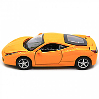 Машинка игровая автопром Ferrari 458 Желтый (3201C), фото 3