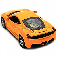 Машинка игровая автопром Ferrari 458 Желтый (3201C), фото 4