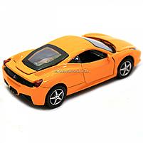 Машинка игровая автопром Ferrari 458 Желтый (3201C), фото 5