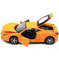 Машинка игровая автопром Ferrari 458 Желтый (3201C), фото 7