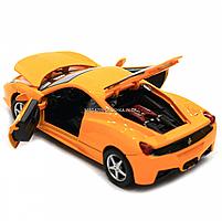 Машинка игровая автопром Ferrari 458 Желтый (3201C), фото 8