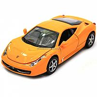Машинка игровая автопром Ferrari 458 Желтый (3201C), фото 9