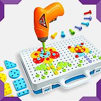 Мозаїка конструктор з шуруповертом Puzzle Creative 2D, фото 1