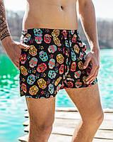 Шорты мужские пляжные cherepy х black / ТОП качества, фото 1