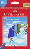 Трехгранные цветные карандаши Faber Castell 120536 (36 цв.+точилка)
