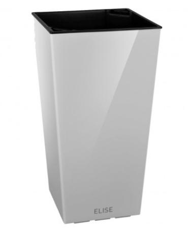 Горшок для цветов ELISE 25см белый матовый
