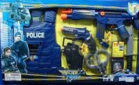 Детский полицейский набор 9 аксессуаров: автомат, жилет, пистолет, рация