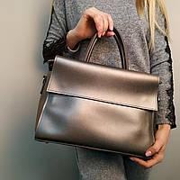 """Стильная женская повседневная сумка сераяя """"Сильвия Gray"""", фото 1"""