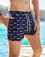Шорты мужские пляжные Rybky х navy / ТОП качества, фото 1