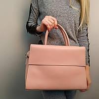 """Стильная женская повседневная сумка белая """"Сильвия Pink"""", фото 1"""