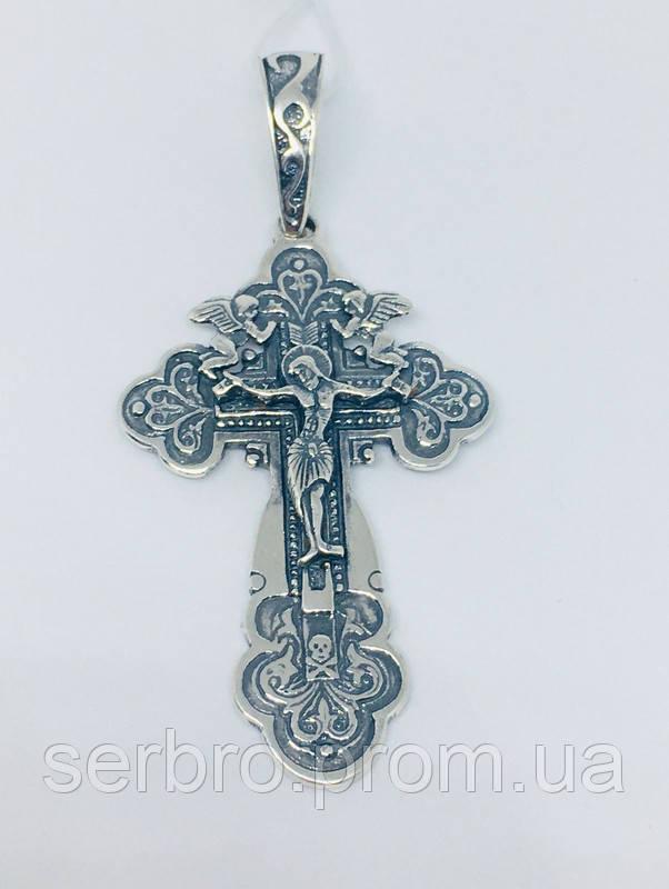 Серебряный крестик Ангел