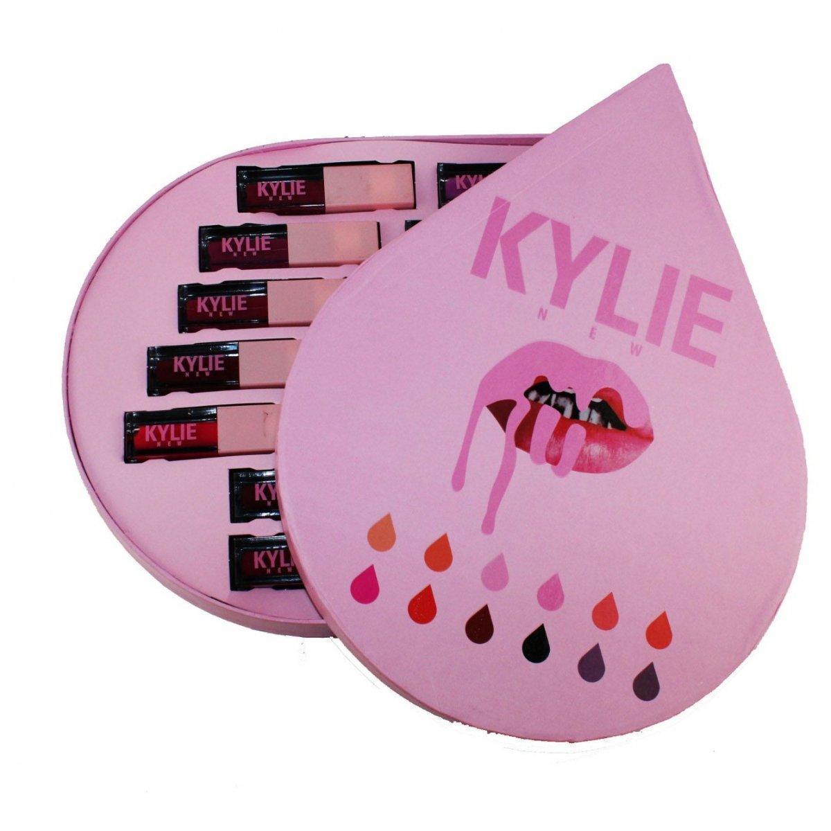 Набор жидких матовых помад Kylie в виде капли 12 штук   помада Кайли