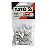 Заклепки резьбовые алюминиевые М6 14мм набор 20шт YATO (YT-36454)