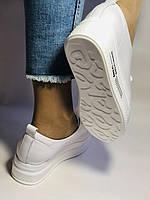 Стильні жіночі кеди-білі кросівки на платформі.Натуральна шкіра. Висока якість 37 Vellena, фото 8