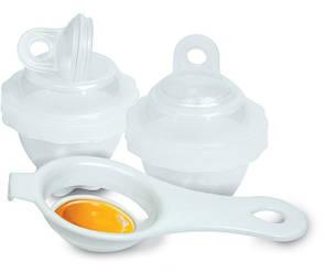 Набор для варки яиц без скорлупы Eggies | формочки для варки яиц 6 шт | яйцеварка