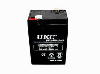 Герметичный кислотно-свинцовый аккумулятор BATTERY RB 640 6V 4A UKC | аккумуляторная батарея