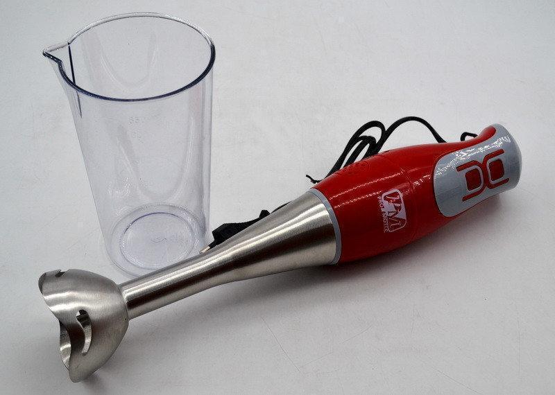 Ручной кухонный погружной блендер PROMOTEC PM-576 с мерным стаканом   блендер Промотек