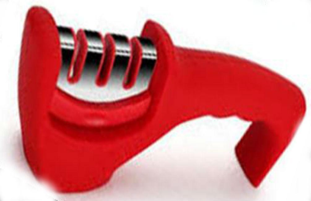 Точилка механическая для кухонных ножей Benson BN-5 красная | ножеточка в 3 этапа: от правки до идеальной заточки