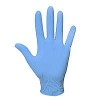 Одноразовые перчатки нитриловые смотровые нестерильные неопудренные синие 100 шт в упаковке