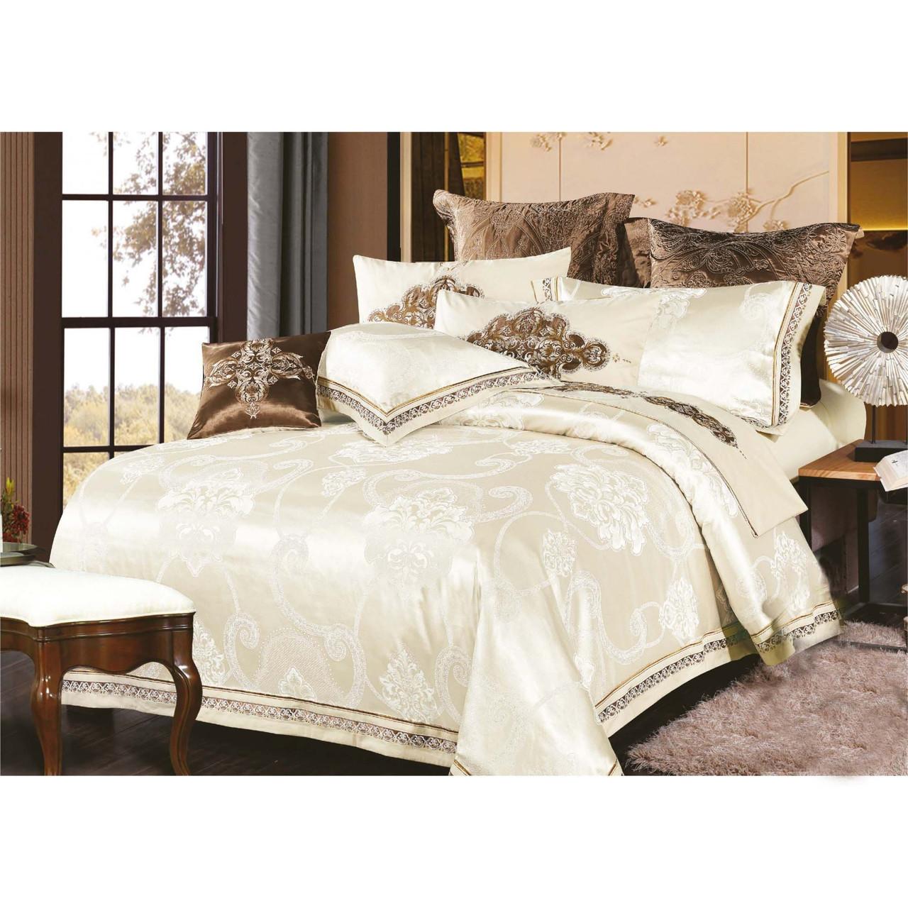 Элитное постельное белье Viluta Сатин жаккард Tiare 1747 Семейный