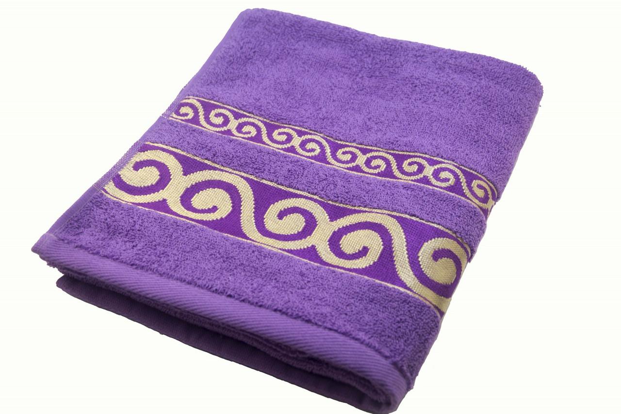 Полотенце махровое Parisa Касабланка 70х140 хлопковое фиолетовый
