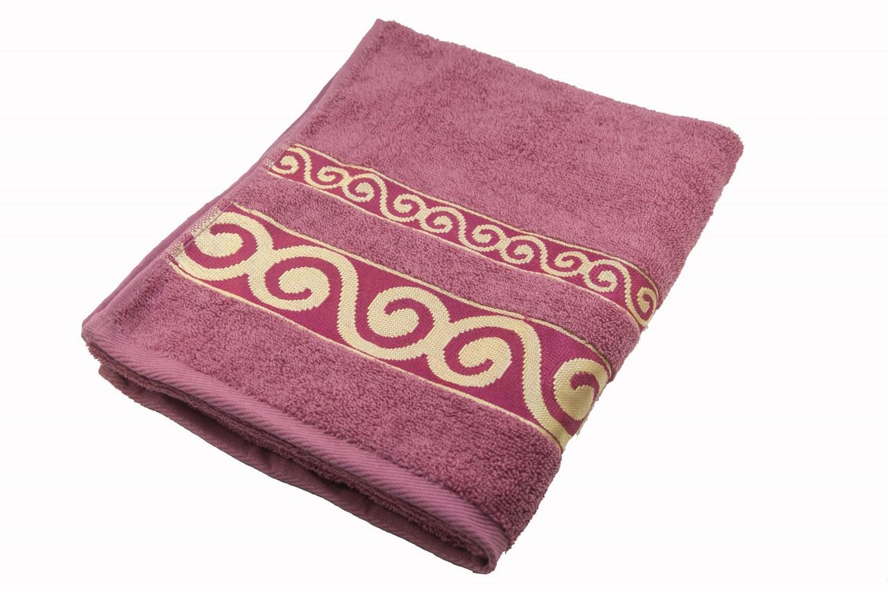 Полотенце махровое Parisa Касабланка 70х140 хлопковое розовый
