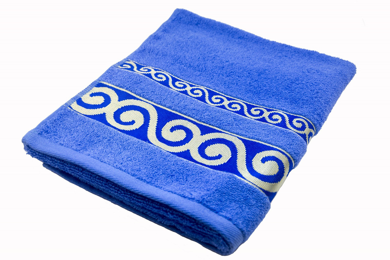 Полотенце махровое Parisa Касабланка 70х140 хлопковое синий