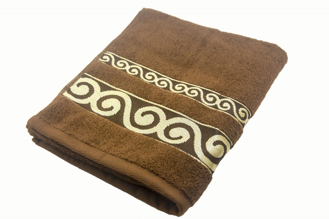 Полотенце махровое Parisa Касабланка 70х140 хлопковое коричневый