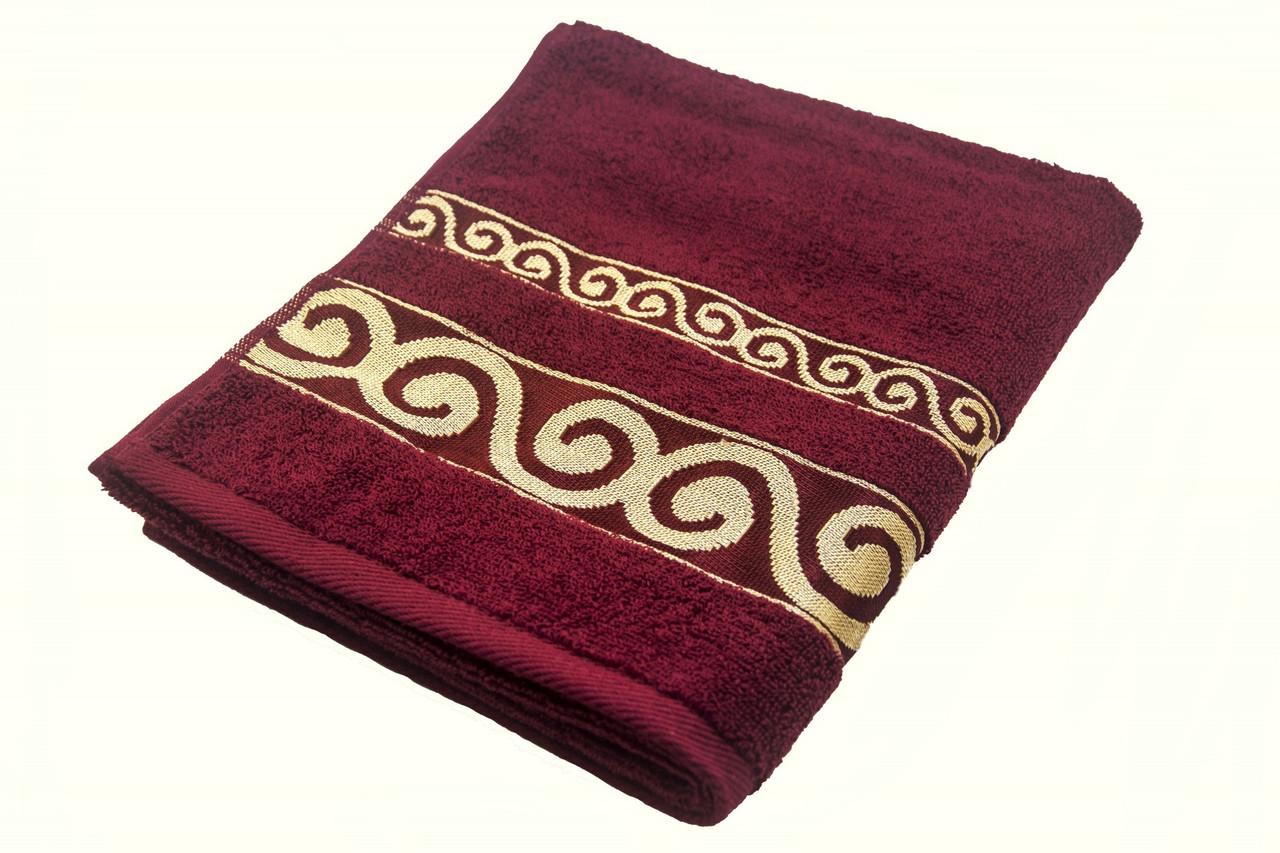 Полотенце махровое Parisa Касабланка 70х140 хлопковое бордовый