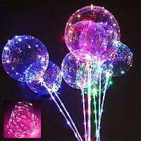 Светящийся воздушный шар на палочке | шарик надувной со светодиодами BoBo Balloon
