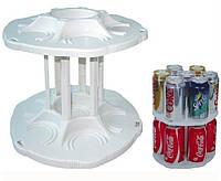 Органайзер для холодильника CAN TAMER | вращающаяся подставка для банок и консерв
