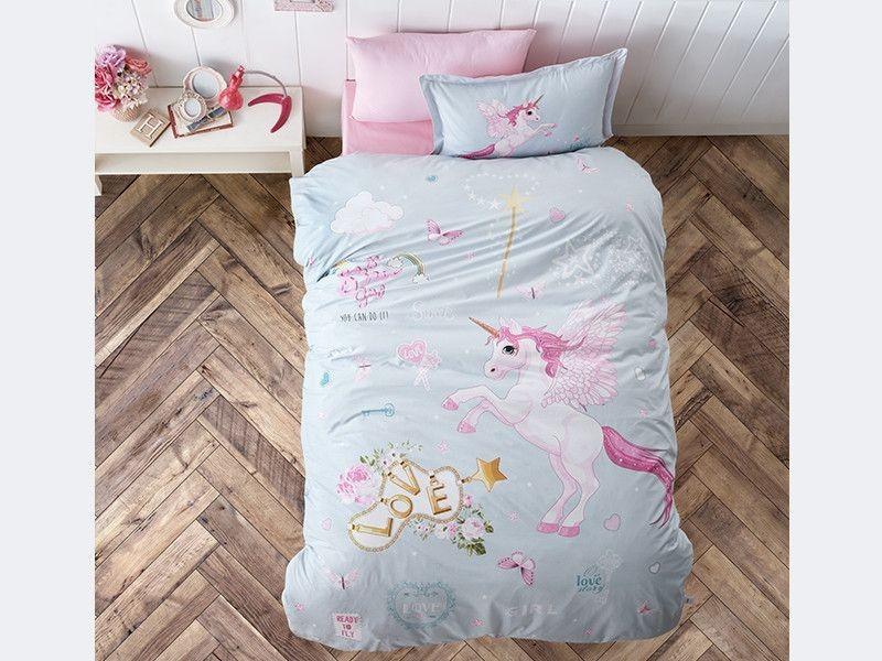Подростковое постельное белье Aran Clasy Pegasus Единорог 160x220