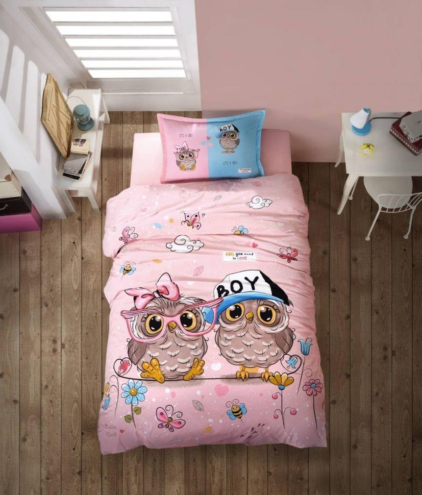 Подростковое постельное белье Aran Clasy Puhu Совы 160x220