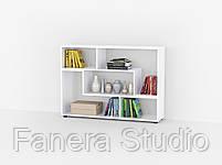Комплект полиць міні 2 штуки, полки для книг, тумби под ТВ из ДСП, фото 4