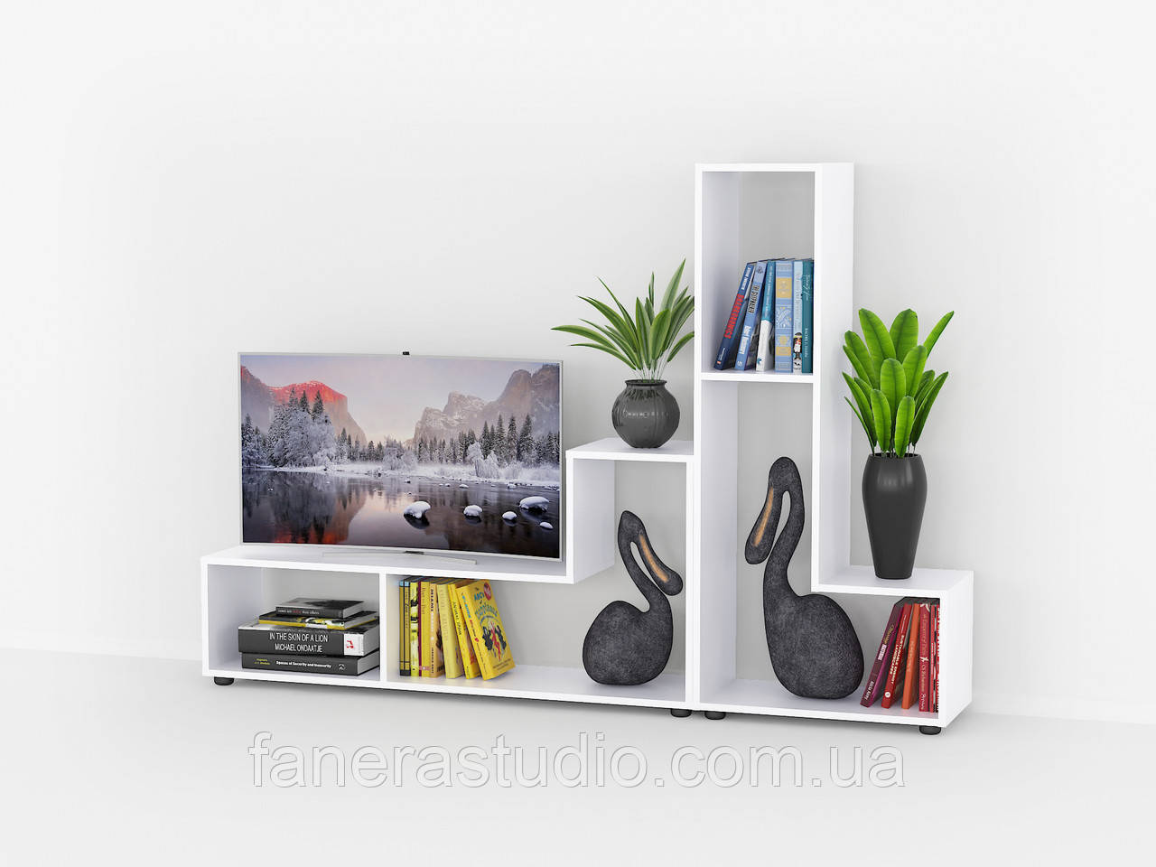 Комплект полиць міні 2 штуки, полки для книг, тумби под ТВ из ДСП