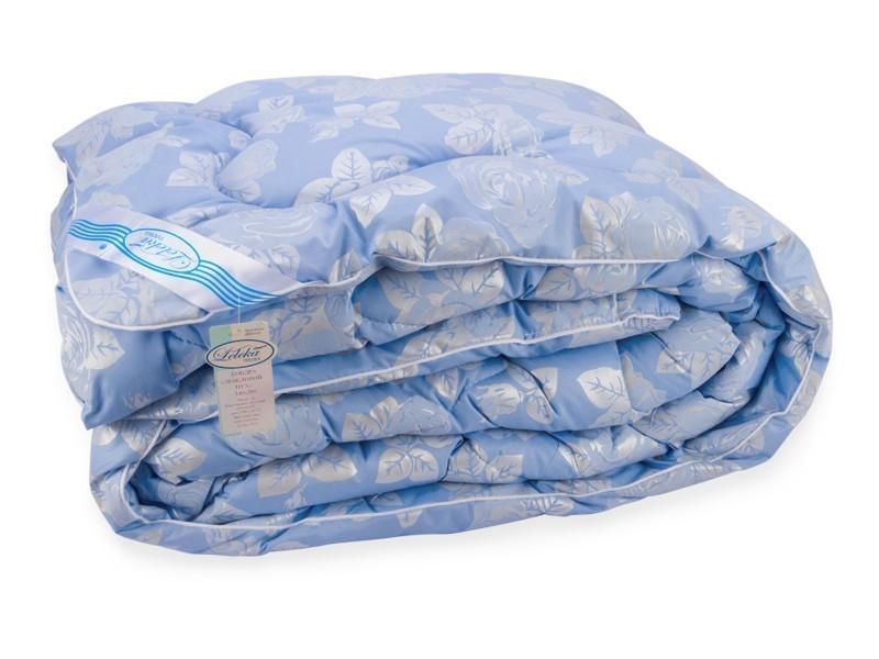 Одеяло Лебяжий Пух Leleka-Textile Евро 200х220 Голубая Роза