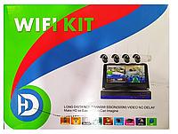 Набор видеонаблюдения 4 камеры WiFi kit (с монитором)